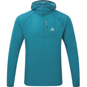 Mountain Equipment M's Solar Eclipse Hooded Zip Tee Tasman Blue